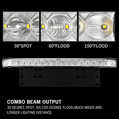 20 inch CREE LED Light Bar With Number Plate Frame For Car SUV Offroad Trucks 2