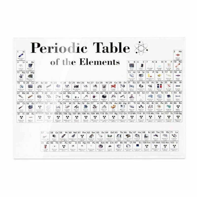 Periodic Table Display of Elements Acrylic Student Teacher Gift Desk 17cm*12cm 3
