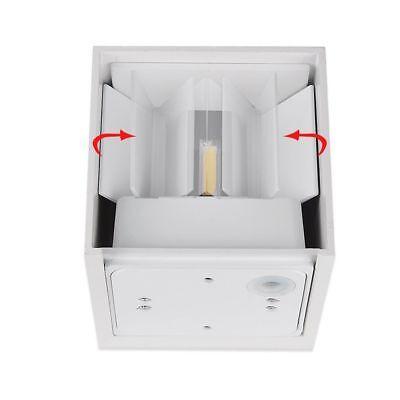 Applique Led Cubo Lampada Da Parete 6-12-40W Luce Regolabile Biemissione Ip65