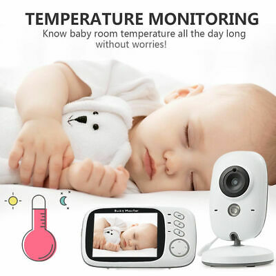 3.5 Zoll Funk wireless Babyphone Baby Monitor+Kamera Nachtsicht Musik Video LSL