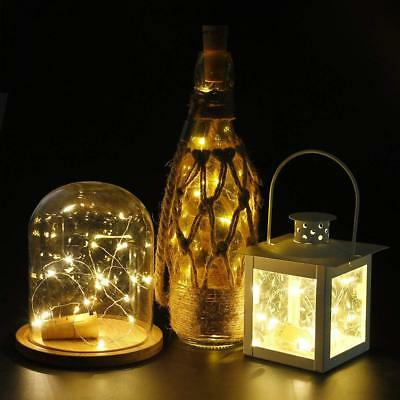 1-12 PCS 2M 20 LED Wine Bottle Fairy String Light Cork Starry Night Xmas Wedding 5