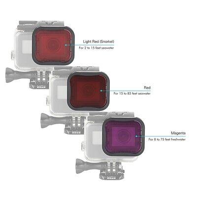 Diving Filter Underwater Red Magenta Snorkel Color Filters for GoPro HERO5 6 7 2