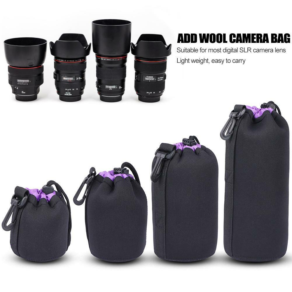 S-XL Waterproof Neoprene Lens Pouch Bag Protective Case for Digital SLR Camera 2