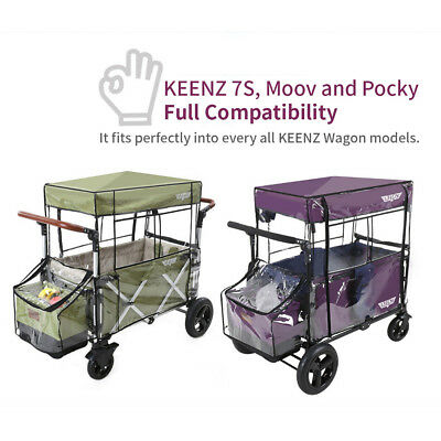 KEENZ 7S Moov Wagon Stroller Weather Shield Waterproof Dust Wind Snow Rain Cover 2
