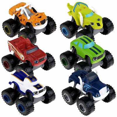 6x Blaze and the Monster Machines Vehicles Diecast Toy Racer Cars Trucks Kid Set 2