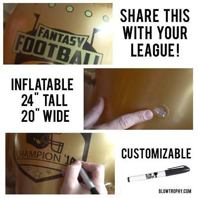"""Fantasy Football Trophy Blow Trophy GIANT Inflatable 24"""" x 20"""" Annual Perpetual 7"""