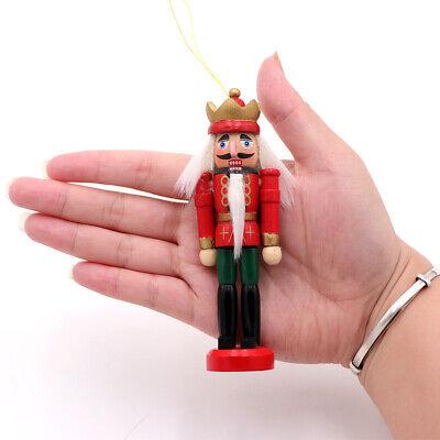 6Pcs Wooden Nutcracker Doll Soldier Mini Vintage Ornaments Christmas Home Decor 10