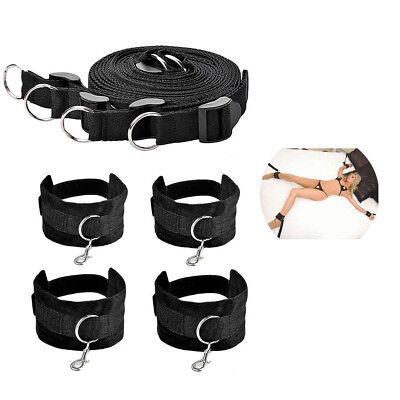 Unter dem Bett Bondage Set Rückhalteseil Kit Fußfesseln System BDSM Spielzeug 5