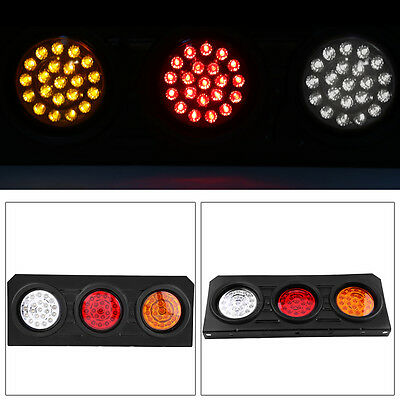 2X Led Tail Lights Truck UTE Trailer Stop Indicator 12V Pair Waterproof AU 9