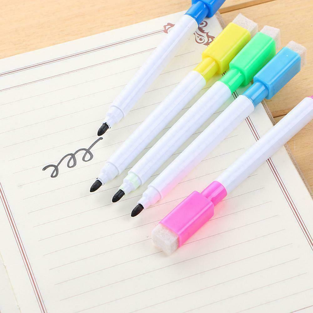 Black White Board Marker Trockenstift mit Radiergummi Schwarz Easy C2 Wipe Y8I5