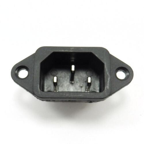 AC 10A 250V IEC320 C14 Mount Male Plug 3 Pins Panel Power Inlet Socket Supp K3K6 5