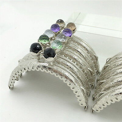 5Pcs Silver Metal Frame Kiss Clasp Lock Arch For DIY Purse Bag 10 Colors NM