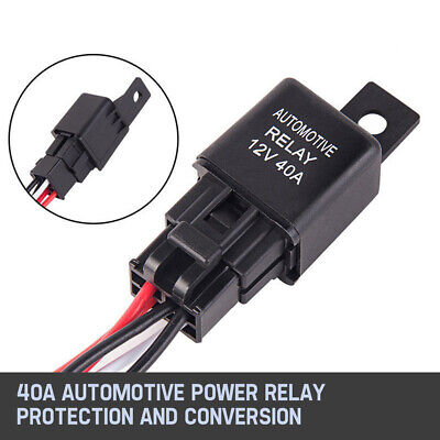 2-Way Wiring Loom Harness Kit 12V Relay Rocker Switch 30A Fuse For LED Light Bar 3