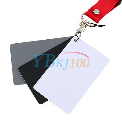 Digital Color Balance 18% Gray Card 3in1 Black Grey White For Photography Studio 9