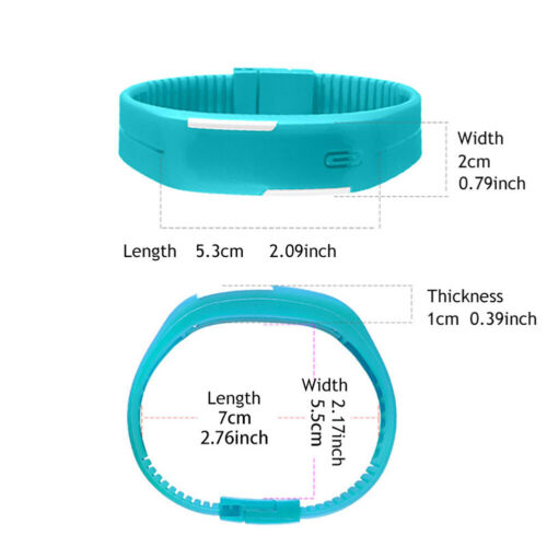 Multifunction LED Sport Electronic Digital Wrist Watch For Child Boys Girls Kids 3