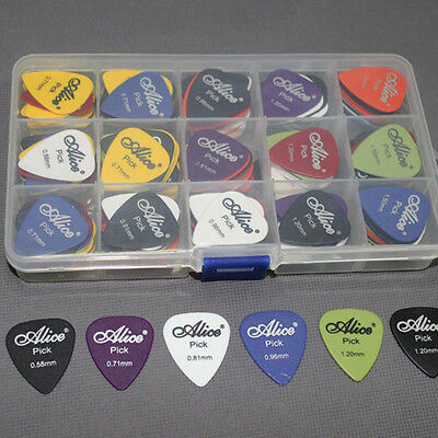 Acoustic Electric Guitar Gear Picks Plectrum Various thickness + Pick Box 7