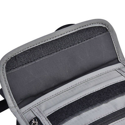 Grey RFID Blocking Neck Stash Pouch Passport Holder Security Travel Wallet JA