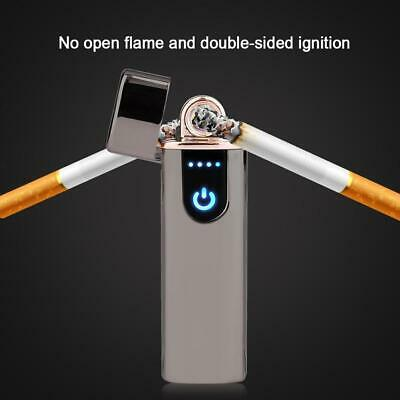 Electric Lighter Usb Rechargable Windproof Flameless Finger Print Gentle Touch 5
