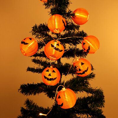 10 LED Pumpkin String Fairy Lights Lantern Party Home Props Halloween Decoration 4
