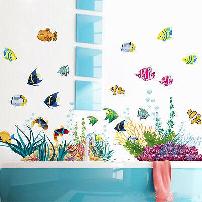 WANDTATTOO WANDSTICKER FISCHE Wandbild Badezimmer Aquarium Meer Meerestiere  #139