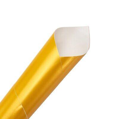 Auroral Metallic Gloss Yellow Vinyl Car Wrap Air Free Bubble Wrap Films Sticker 12