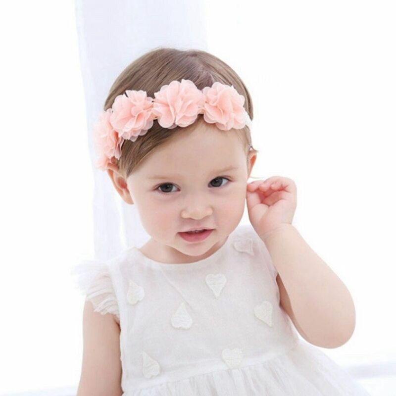 Cute Lace Flower Kids Baby Girl Toddler Headband Hair Band Headwear Accessories 3