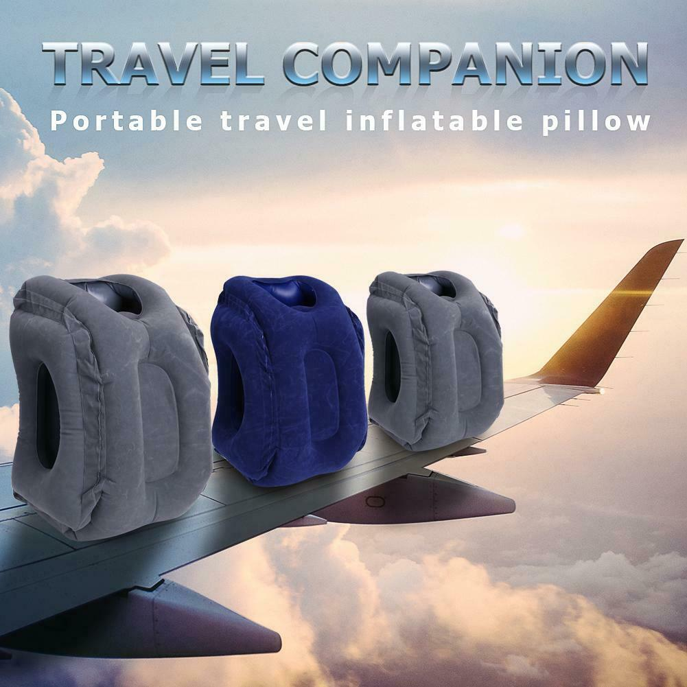 Inflatable Air Travel Pillow Cushion Neck flight Comfortable Support Nap lot US 3