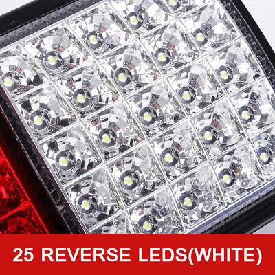 2X Tail Lights DC 12V Brake Reverse 75-LED Trailer Truck UTE Caravan ADR Approve 6