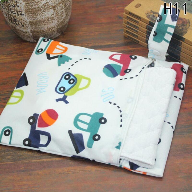 Infantil impermeable Zip Bolsa seca húmeda Paño bebé Pañal Bolsa Reutilizable 12