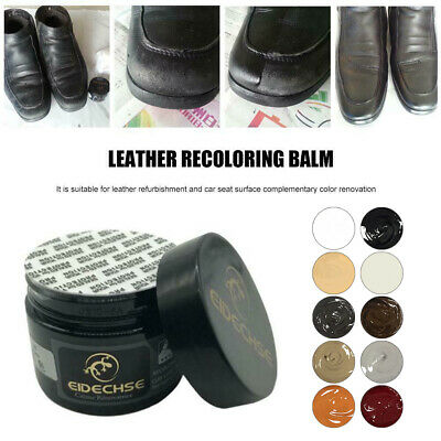 50Ml Eidechse Leather Recolouring Balm Cream Restorer Sofa Chairs 10 Colours A+ 4