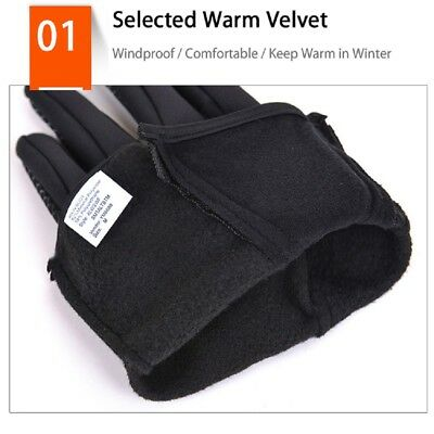 Men Women Winter Warm Windproof Waterproof Thermal Touch Screen Gloves Mittens Y 2