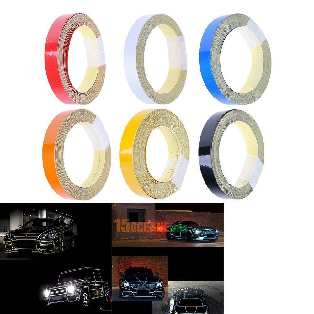 1cmx5m Auto Car Truck Reflective Roll Tape Film Safety Warning DIY Sticker Decal