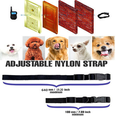 Waterproof 1000 Yard 2 Dog Shock Training Collar Pet Trainer with Remote Battery 6