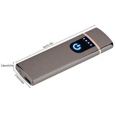 Electric Lighter Usb Rechargable Windproof Flameless Finger Print Gentle Touch 3