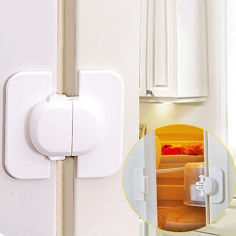 Kids Safety Door Lock Proof Cupboard Fridge Cabinet Child Prevent Clamping H7 2