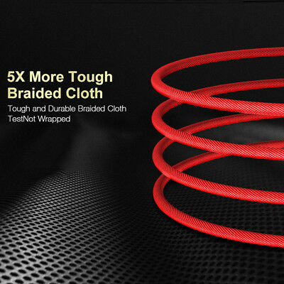 Fast Charging Cable Cord USB-C Type-C 3.1 Nylon Braided Data Sync Charger j-c CA 5