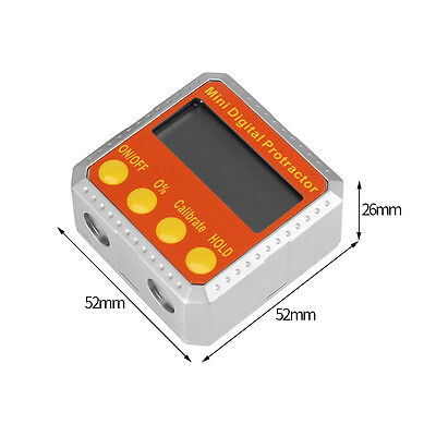 Electronic Angle Gauge Meter Digital Inclinometer Protractor 360° Magnetic Base 12