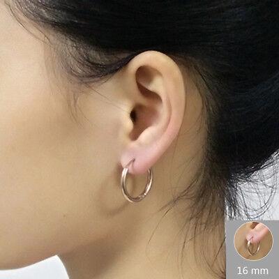 2Pcs Men Women Stainless Steel Hoop Huggie Ear Helix Cartilage Stud Ring Earring 8