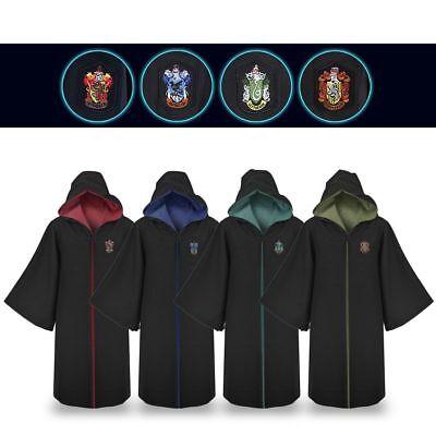 Harry Potter Cape Gryffondor Serpentard Robe cravate Echarpe Cosplay Costume 4