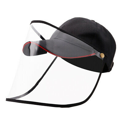 Full Face Covering Shield Anti Saliva Visor Baseball Cap Hat Protective Cover 3