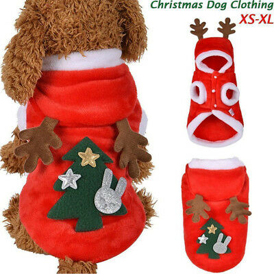 002441882b94 ... Christmas Small Pet Dog Hoodies Elf Cosplay Soft Warm Costume Xmas  Party Outfit 6