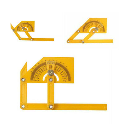 Plastic Angle Finder Protractor Goniometer Miter Gauge Arm Measuring Ruler Tool 6