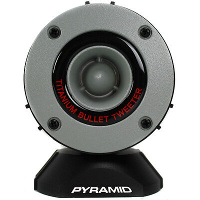 COUPLE OF TWEETER PYRAMID TW28 TW 28 GREY OF 300 WATT RMS AND 600 WATT MAX IN PAIR X USE SPL IN CAR WITH IMPEDANCE 4 OHM