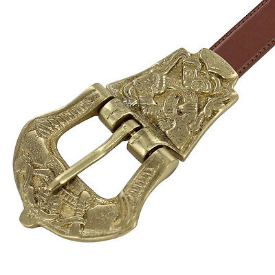 Renaissance Style Viking Age Brass Medieval Belt Buckle 2