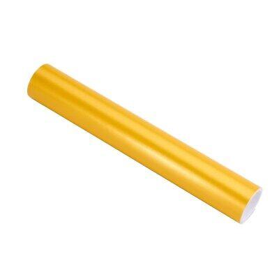 Auroral Metallic Gloss Yellow Vinyl Car Wrap Air Free Bubble Wrap Films Sticker 3
