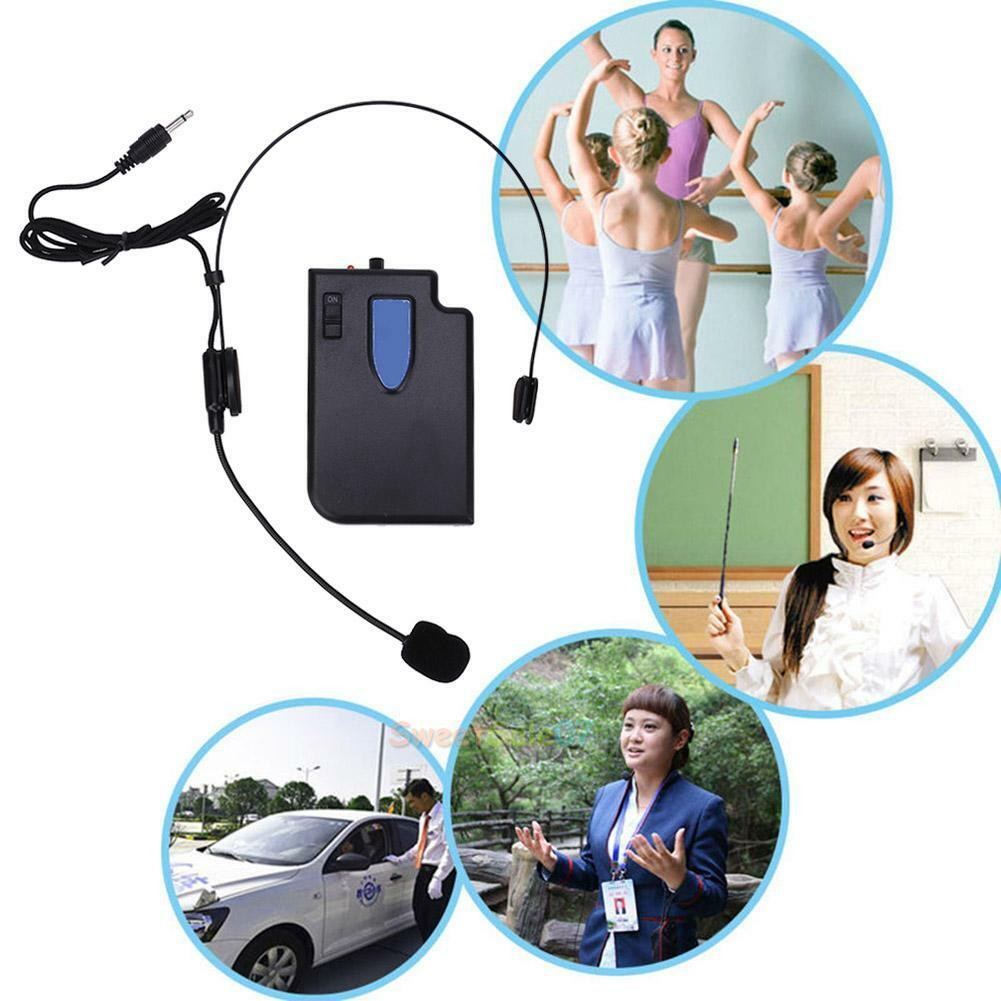 Wireless Guide Lecture Teaching Headset Microphone + 3.5mm / 6.5mm Plug Receiver 2