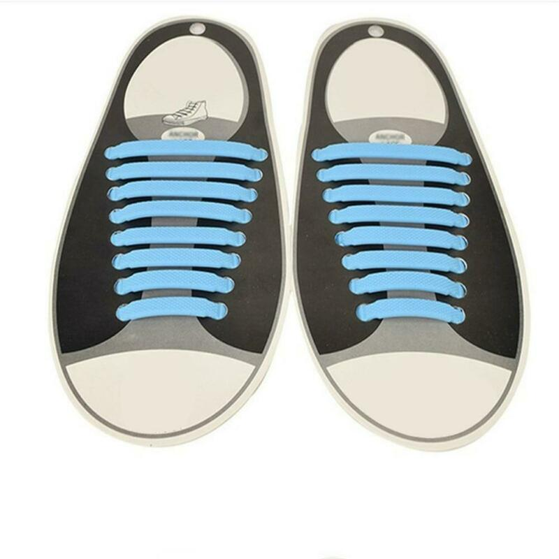 Easy No Tie Rubber Shoe Laces Colored ShoeLaces Trainers Snickers Kids + Adults 7