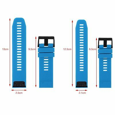 Silicone Quick Install Band Easy Fit Wrist Strap For Garmin Fenix 3 5 5X Plus 8