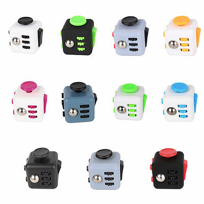 1 Of 11 Fiddle Fidget Cube Children Kids Toy Adults Stress Relief ADHD Free Bag UK
