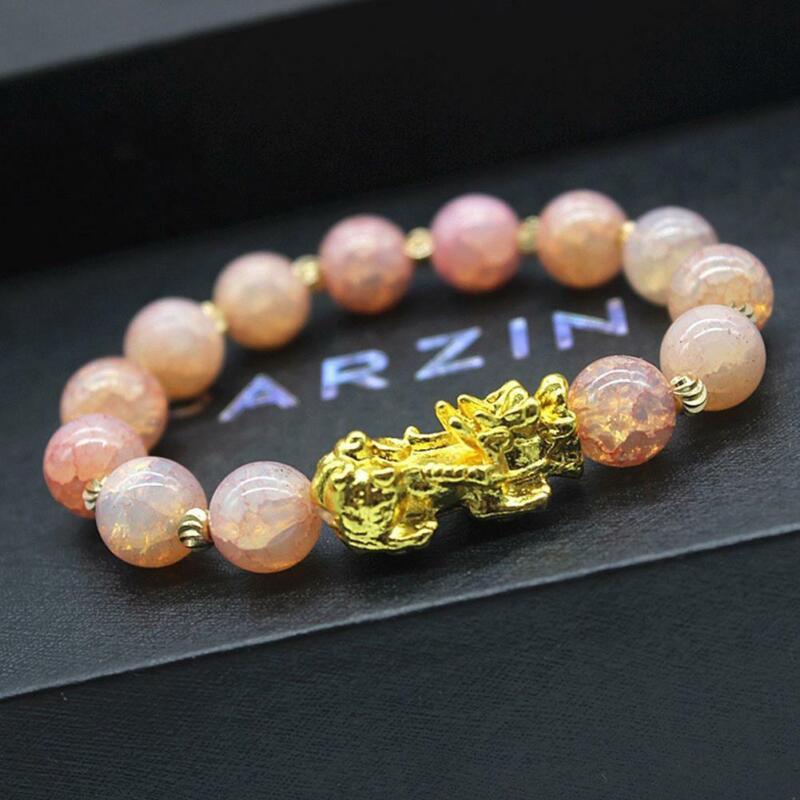 Pixiu Chinese Good Lucky Charm Feng Shui Pi Yao Wealth Bracelets Jade Jewelry 5